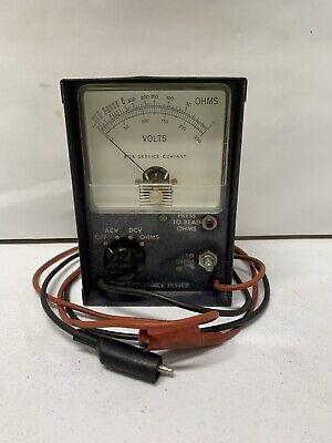 Vintage Rca Service Company Appliance Tester Volt Meter Ohmmeter Acv Dcv