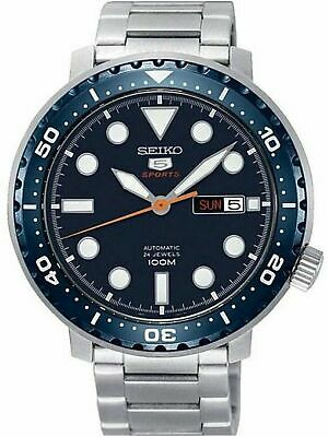 SEIKO SRPC63K1,Men's Sport,Automatic,Stainless steel,Rotating Bezel,date,100m WR
