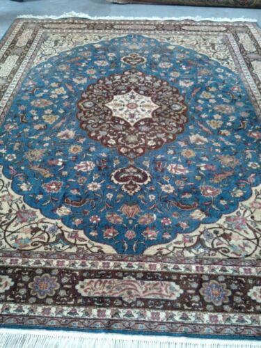 Antique $12,000 Rare Fine Blue Wool Rug Asian