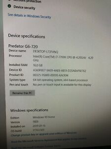 Aced predictor G6 gaming pc