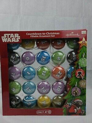 Hallmark Disney Star Wars Count Down To Christmas Ornament Set Target Exclusive