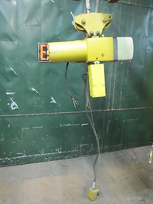 Yale 2-speed 12 Ton 1000lb Chain Hoist W Trolley 460v 460 V Volt 3ph 113 Drop