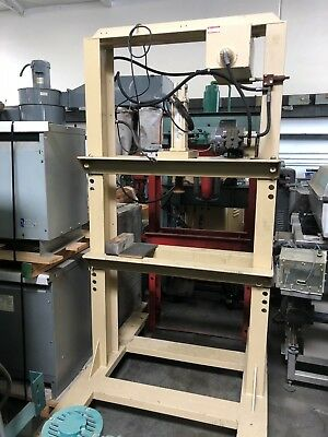 Custom H-frame Electric Hydraulic Press 36 Btwn Uprights