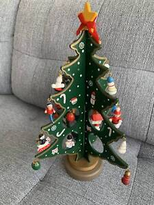 Christmas Decoration Wooden Tree Decorative Accessories