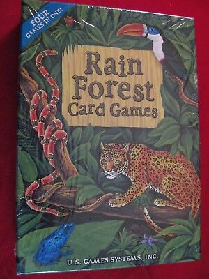 Rain Forest Card Games 4 In 1 Box Set New In Packaging Free Shipping