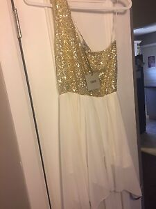 White and gold dress NEW