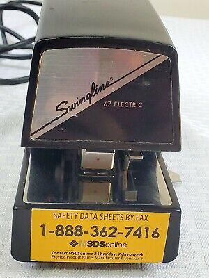 Swingline Model 67 Electric Stapler Desktop Heavy Duty 20 Sheet Capacity Works