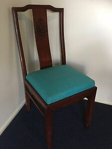Teal  Covered Wooden Bedroom / Occasional Chair Medowie Port Stephens Area Preview