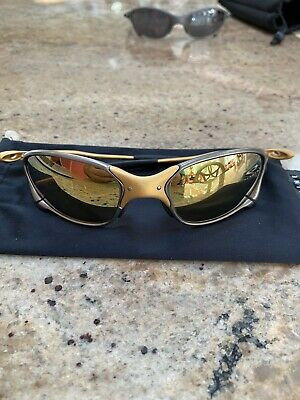 Rare Mint Condition Oakley XX 24K Gold Iridium Juliet Sunglasses