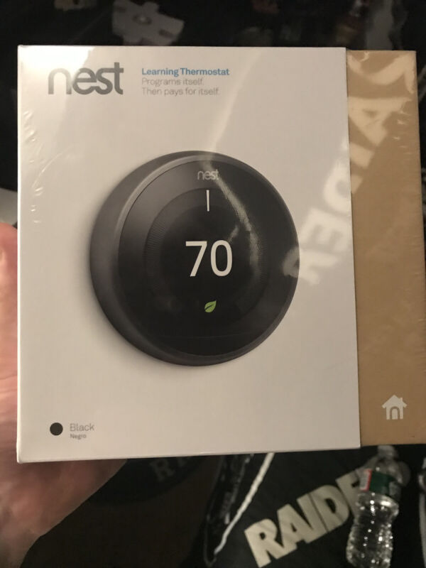 Nest thermostat 3rd generation Brand New Unopened black