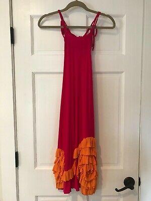 EUC!  CHASING FIREFLIES PIXIE GIRL BY VICKI SIGG Pink and orange Dress 6X - Pixie Girl Dresses