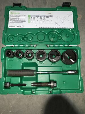 Greenlee 7238sb Slug-buster Knockout Kit With Ratchet Wrench Punch Set Used