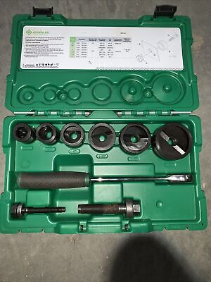 Greenlee 7238sb Slug-buster Knockout Kit With Ratchet Wrench Punch Set Used