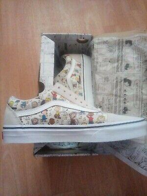 Vans Authentic Peanuts Mens Size 7.5 Womens Size 9 Skate Shoes Charlie Brown
