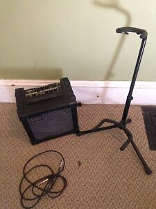 Roland Cube 15 Guitar Amp and Guitar Stand
