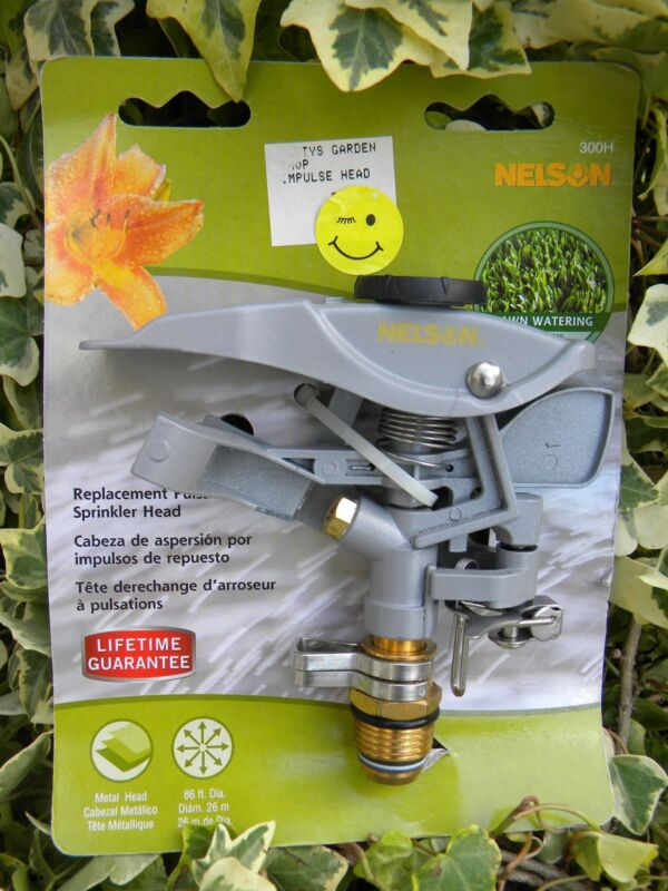 NELSON Metal Replacement Pulsating Sprinkler Head, Distance & Rotation Control