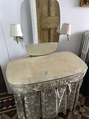 Vintage Childrens 1940s French Dressing Table With Electrics For Lights