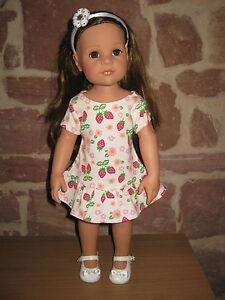Puppenkleidung, Kleid, Stehpuppe, 46, 50 cm Steh Puppe (ohne Puppe), 1799