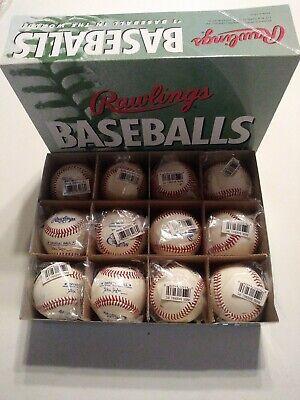 Rawlings RMSBL Adult League Leather Baseballs Dozen (12) MSBL MABL Quality NEW
