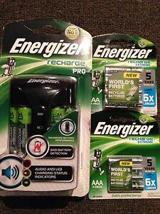 ENERGIZER 'PRO' RECHARGER & 2 PKT of BATTERIES Carine Stirling Area Preview