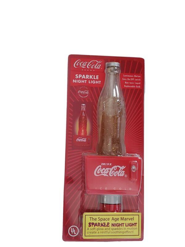 Coca-cola Sparkle Night Light Vintage Collector Item cat 6605