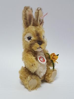 Steiff 036446 Nikki Rabbit Hase Kaninchen Aufwartend Mohair Neu & Ovp