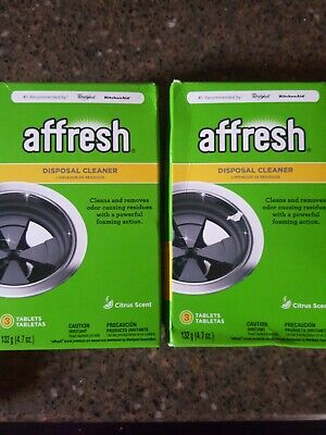 New 2 , 3ct BOXES Garbage Disposal Cleaner Premium Quality AFFRESH W10509526