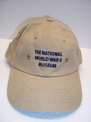 National WWII Museum Trucker Hat Beige Adjustable