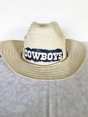Dallas Cowboys Straw Hat Cowboys Cowboy Hat Straw Hat Hand Decorated](Dallas Cowboy Decorations)