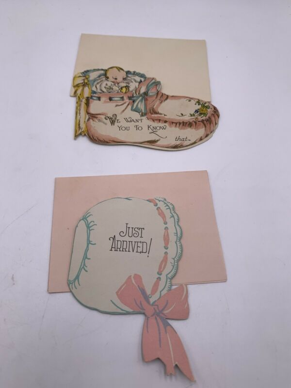1930s Baby Cards Birth Announcements Adorable Graphics