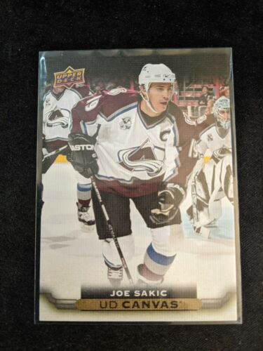 2015-16 Upper Deck Series 2 Joe Sakic Canvas Retired Stars #c242 *hof*