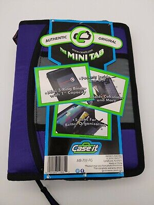 Case-it The Mini Tab 3 Ring Binder With 1 Capacity Purple New