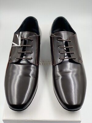 AUTHENTIC BRAND NEW VERSACE COLLECTION MEN'S MARRONE SCURO DARK BROWN SHOES
