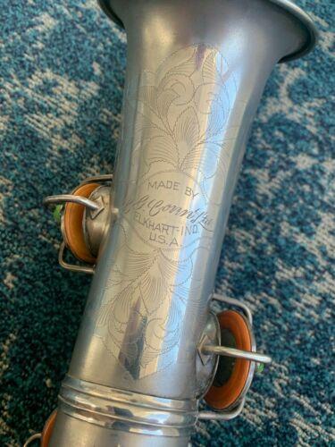 CG ConnSilver New Wonder II Chu Berry Alto Saxophone Low pitch Original  Case