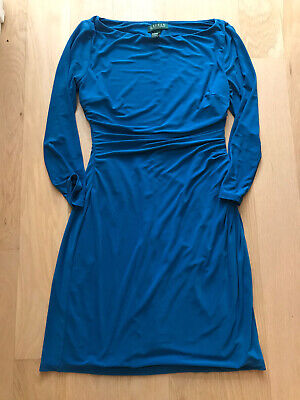 Lauren Ralph Lauren Blue Sapphire Sheath Dress S/6