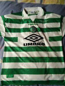 camisetas-jersey-shirt-maillot-trikot-CELTIC-GLASGOW-WINNERS-SPL-1998-XL