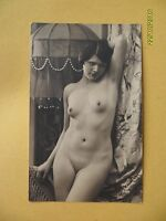 Original French 1910's-1920's Postcard Nude Risque Pretty Lady Front Pose 79 -  - ebay.co.uk