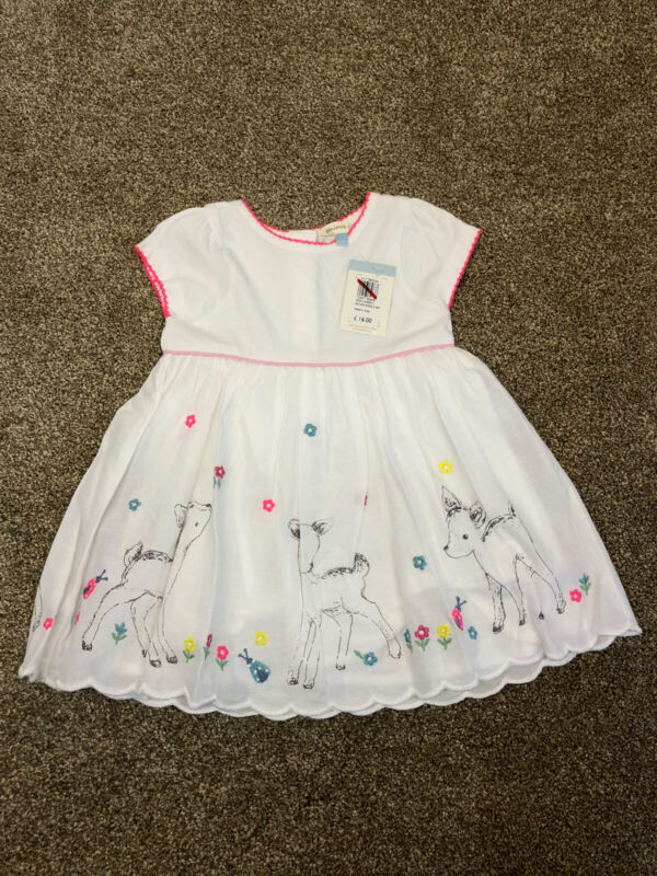 New+6+-+9+M+John+Lewis+Baby+Summer+Dress+%2F+Jersey+With+Deer+Holiday+Party+Home