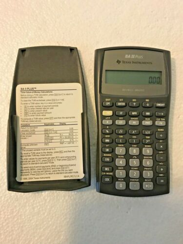 Texas Instruments BA II Plus Business Analyst Financial Calculator Tested