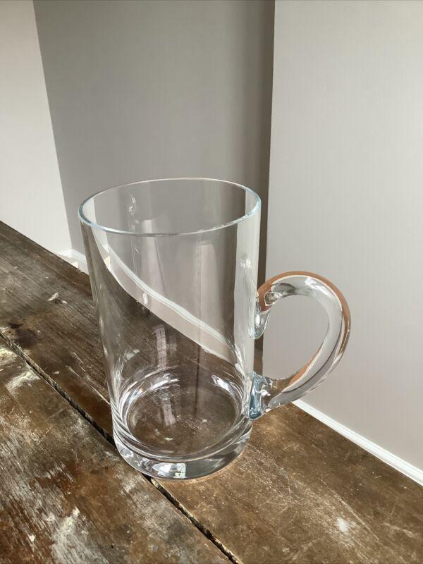 Tiffany & Co. Clear glass Crystal beer mug 5.5 inches tall