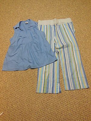 Motherhood Maternity 2 Piece Set Blue Pants And Top