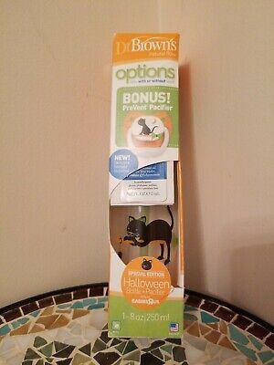 Dr Brown Halloween Bottle (NIB Dr. Brown's Halloween 8 Oz. Baby Bottle Options Pacifier Black Cat Babies)