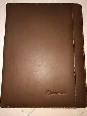 Cutter Buck Leather Writing Pad Padfolio - Chestnut Brown