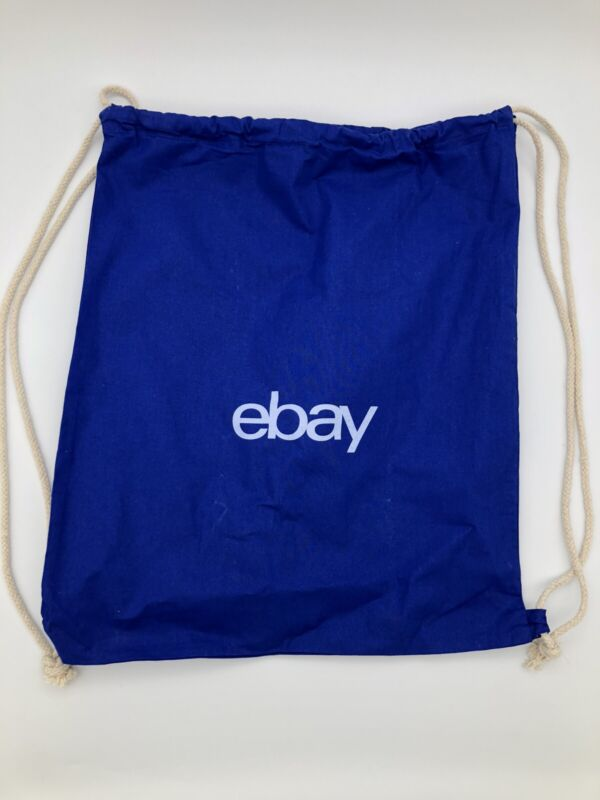 eBay Blue Drawstring Backpack String Bag New