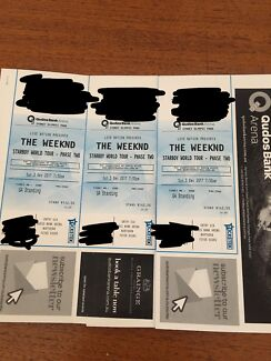 3 x GA The Weeknd tickets SYDNEY 3/12/17