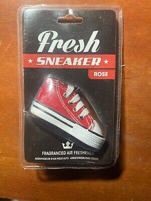 Chuck Taylor Converse Shoe Air Freshener Red Color Rose Scent Key Chain Fresh
