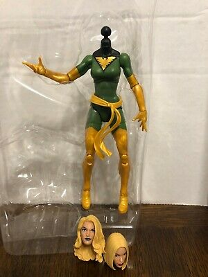 Emma Frost Heads Exclusive Dark Phoenix Green Body Marvel Legends 6""