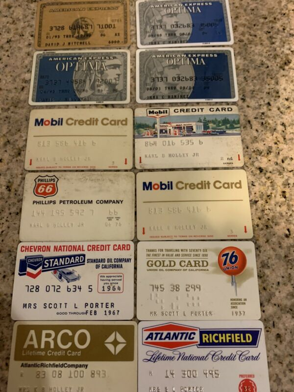OLD EXPIRED AMERICAN EXPRESS & EXPIRED GAS CARDS