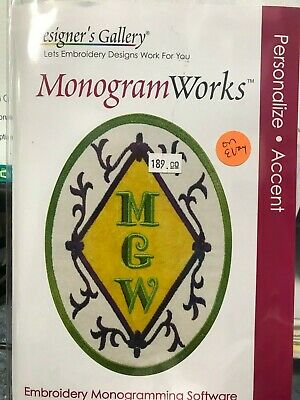 DESIGNER'S GALLERY MONOGRAM WORKS EMBROIDERY LETTERING SOFTWARE FONTS EDG-TP6 Embroidery Fonts Software
