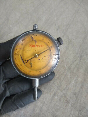 Vintage Starrett Dial Indicator No. 25-341 Jeweled .001 1 Inch Range